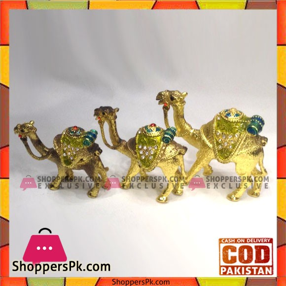 Home Decor High Quality Metal 3pcs Camel Set