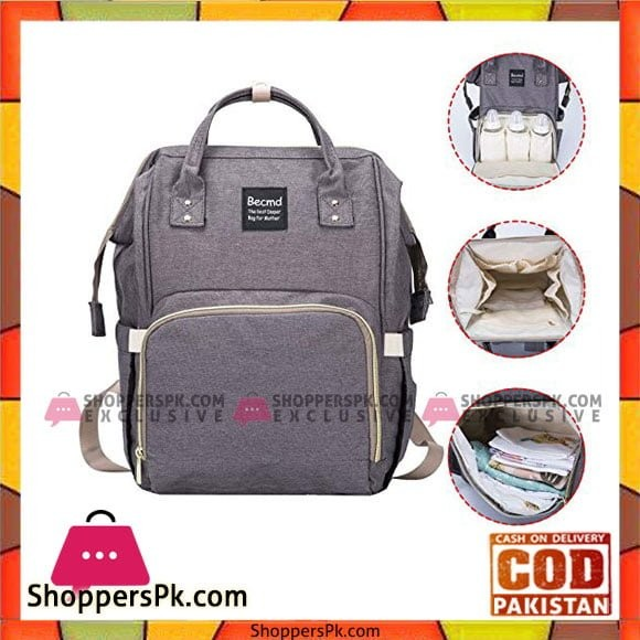 Mommy Bag Backpack Large Capacity Nappy Bag Waterproof Diaper Backpack Multipurpose Travel Bag