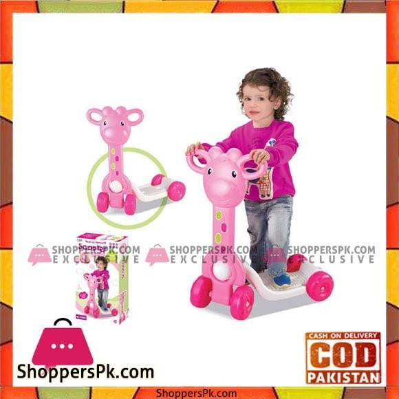 Pink Giraffe 'My First Scooter' Ride