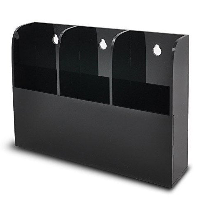 Remote Control Holder Wall Mount Media Organizer Box 3T Acrylic Plastic