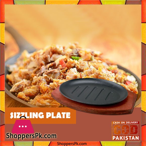 Sizzling Plate Set Oval 10 Inch