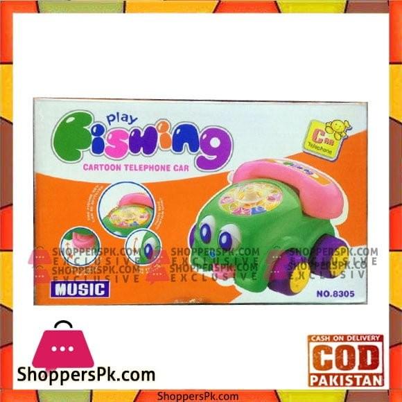 Play Fishing Cartoon Telephone Car