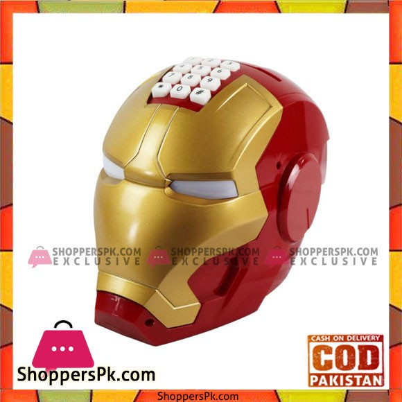The Avenger Iron Man Piggy Bank Helmet Model Coin Saving Money Box