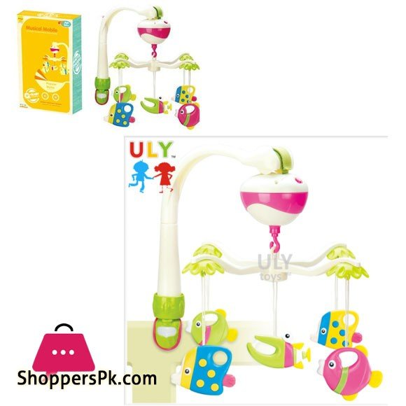 2 in 1 New Style Baby Musical Fish Crib Mobile or Baby Carriage