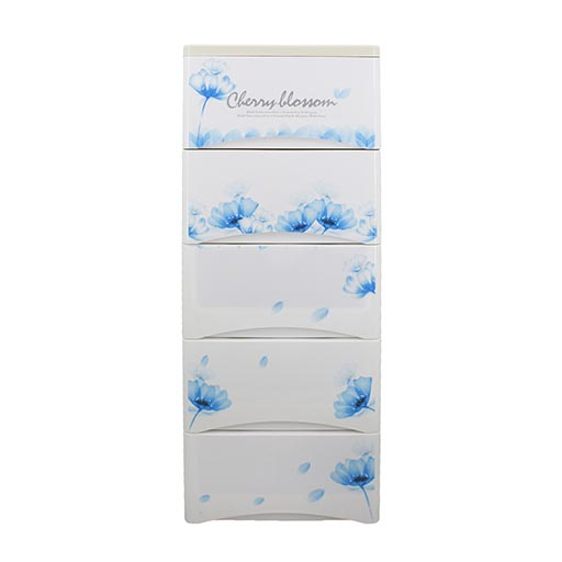 5 LAYER DRAWERS BLUE CHERRY BLOSSOM 3865