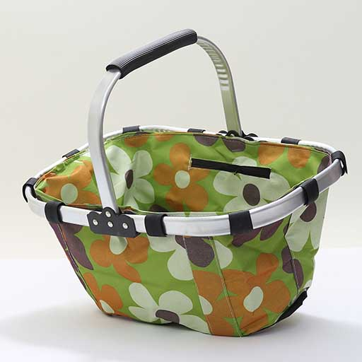 COLLAPSIBLE FOLDING MULTI PRINTED INSULATED PICNIC BASKET