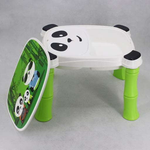 A + B High Quality Fiber Plastic Panda Chair Table for Kids 8006