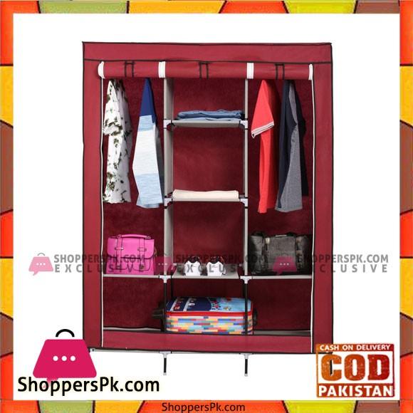 3 Door Fancy & Portable Wardrobe Storage Organizer - 88130