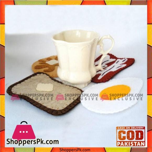 3 pcs Breakfast Mug Coaster Crochet Coaster Handmade