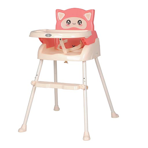 QH1-916 PINK 3IN1 HIGH CHAIR