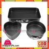 3pcs Mini Cheesecake Pan Bakeware Nonstick Removable Bottom