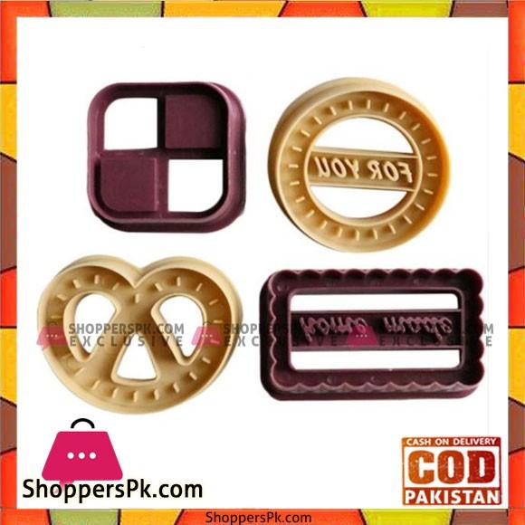 4Pcs Cookie Molds Set Classic Biscuit Fondant Baking Tool