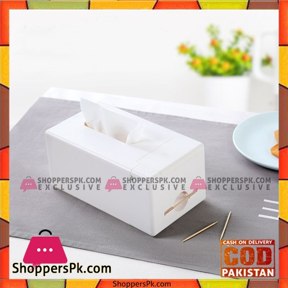 Anya Tissue Box with Toothpick Holder