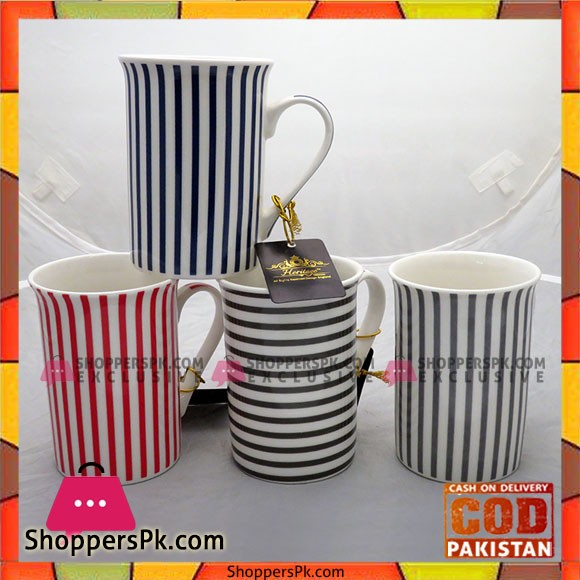 Bilton Mug Stripe 6pcs Set