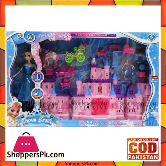 Buy Dream Castle Doll House Play Set With Lights And Music At Best
