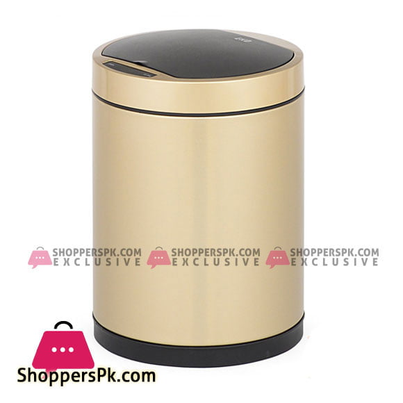 EKO 12 liter Docomo Sensor Bin Stainless Steel Trash Can EK9285CG
