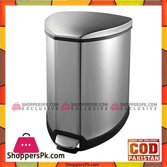 EKO Grace Step Stainless Steel Bin Trash Can 15-Litre