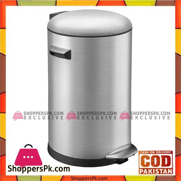 Eko European pedal stainless steel trash bin 8-Liter