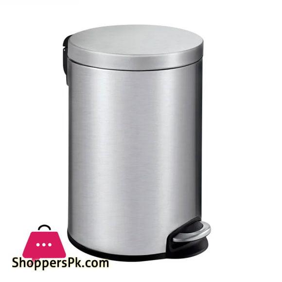 Eko Serene Stainless Steel Round Step Waste Bin 12 -Liter EK9215-12L
