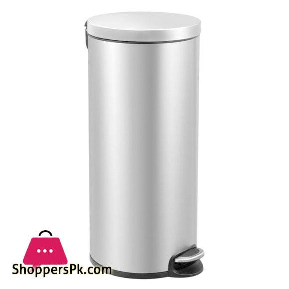 Eko Serene Stainless Steel Round Step Waste Bin 20-Liter EK9215-20L