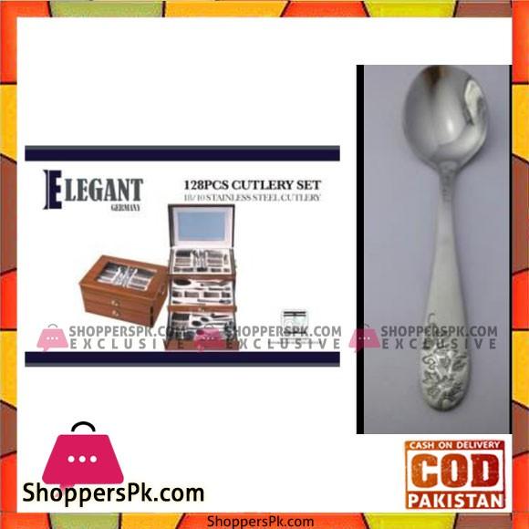 Elegant 128Pcs Cutlery Set - EL128W