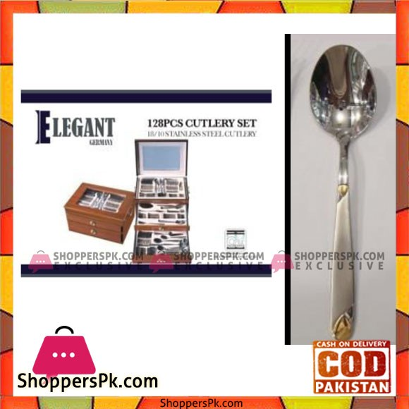 Elegant 128Pcs Drop Cutlery Set - EL0084GS Price in Pakistan