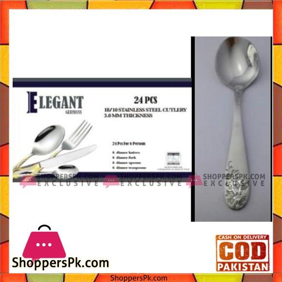 Elegant 24Pcs Flat Cutlery Set - EL24F02