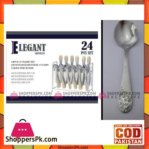 Elegant 24Pcs Stnd Cutlery Set - EL24S02