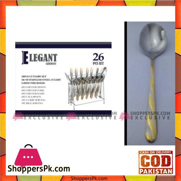 Elegant 26Pcs 4line Cutlery Set - EL05 G