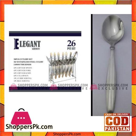 Elegant 26Pcs Ovaldot Cutlery Set – EL12 S