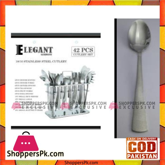 Elegant 42Pcs Dotted Cutlery Set - CC0002
