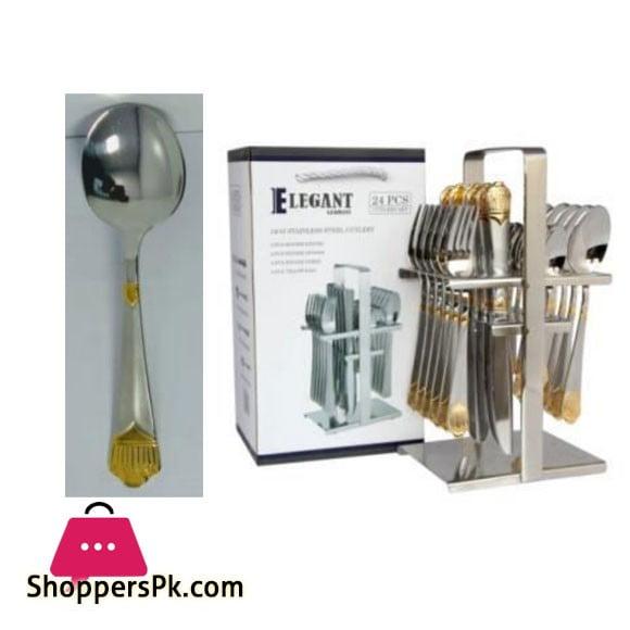 Elegant Taj Cutlery Set 24 Pcs -AA0012S