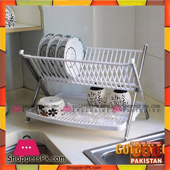 High Quality Space Saving Kitchen Organizer Dish and Bowl Shelf