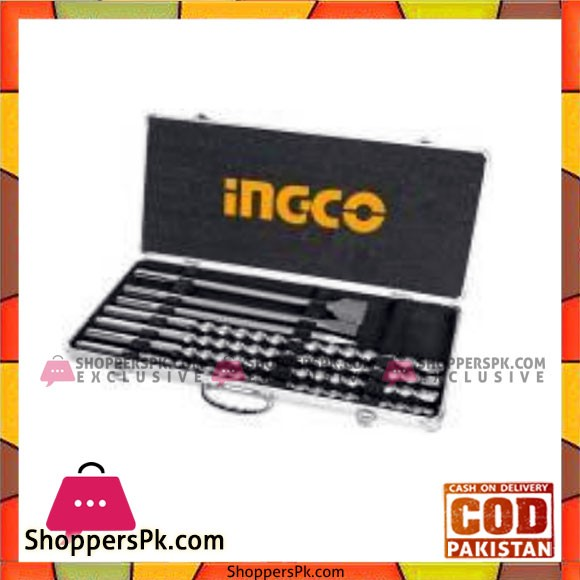 INGCO SDS Max hammer drill bit and chisels set - AKD5075