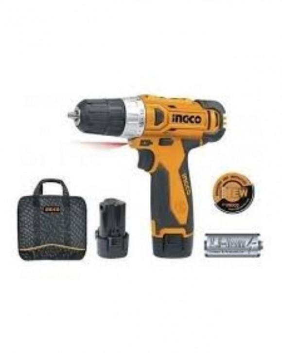INGCO Li-ion cordless drill 12V with 2pcs 12V Battery - CDLI228120-2