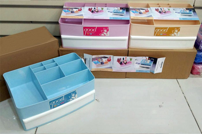 Plastic Cosmetic Drawer Makeup Organizer