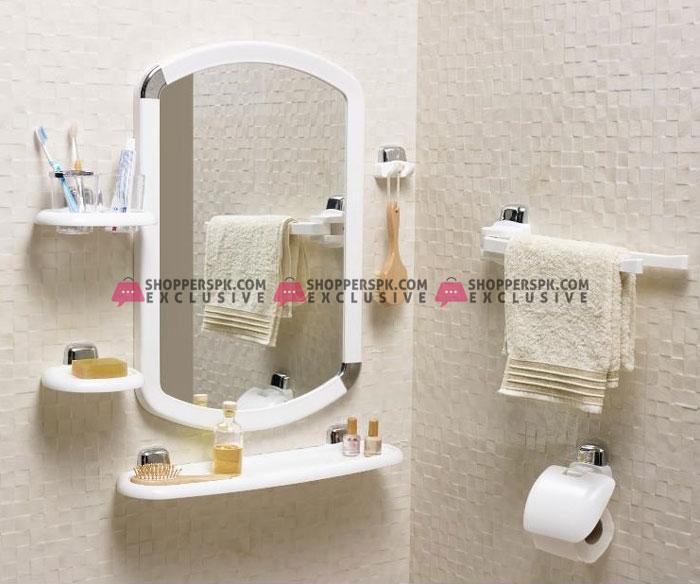Primanova Bathroom Mirror Set 7 Pieces White Turkey Made 24010