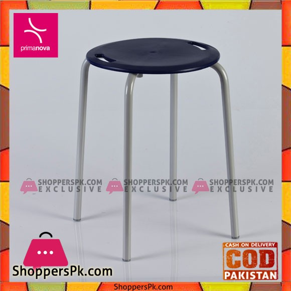 Primanova Bathroom Stool Made of Plastic With Steel Legs and Anti-Tips Turkey Made KV18