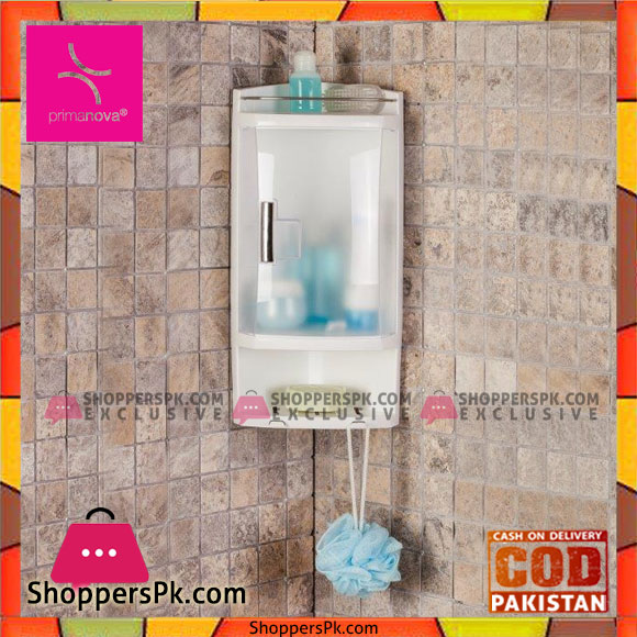 Buy Primanova Multi Purpose Bathroom Corner Cabinet With 2 Open Shelves And 1 Shelf With Door S05 At Best Price In Pakistan