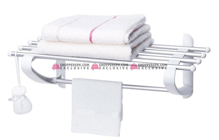 Primanova Rustproof Bathroom Shelf Aluminium Towel Rail Turkey Made