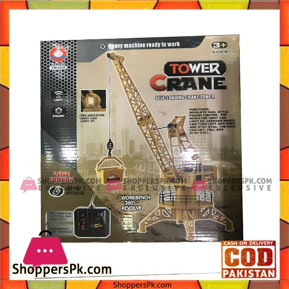 RC Crane Tower Forklift Construction Playset 360 degree rotary 6820L