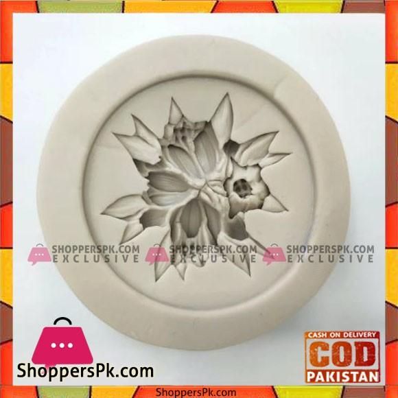 Silicone Mold Round Flower Chocolate Fondant Tool