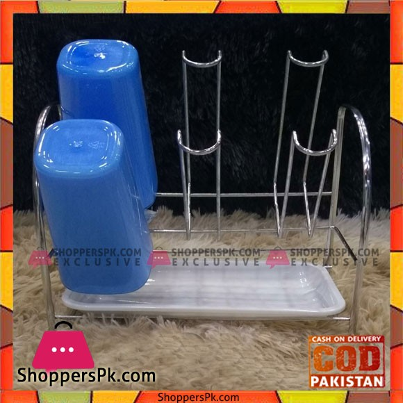 Stainless Steel Glass Stand 6 Glass Capacity