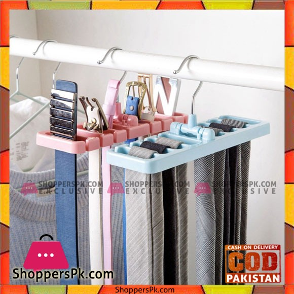 Storage Rack NeckTie Belt Space Saver Tops Scarf Hanger