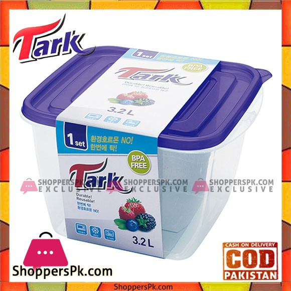 Tark Food Container Square and modern square design 1Pcs 1.9ml