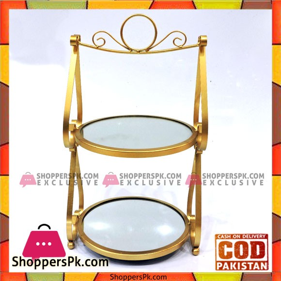 Wrought Iron Gold Two Tier Cupcake Stand Cake Stand