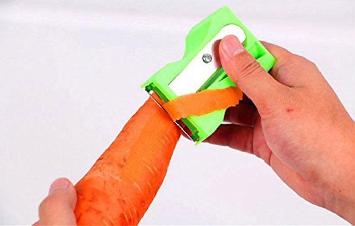 1Pcs Carrot Sharpener Peeler Kitchen Tool Vegetable Fruit Curl Slicer