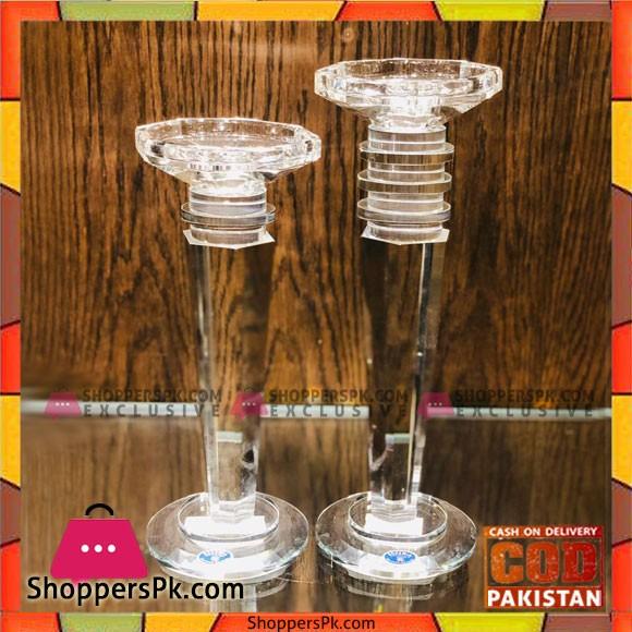 1pcs Large crystal candle holder