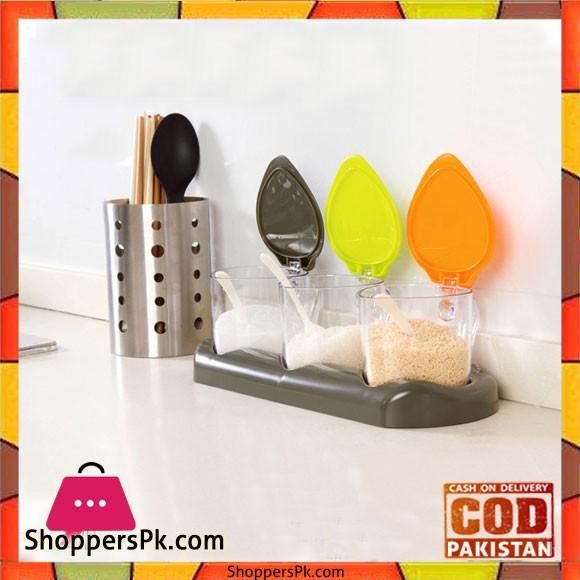 3 Piece Condiment Set Plastic