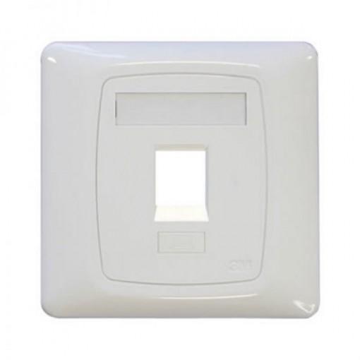 3M Volition XF003849205 UK Single Faceplate 1 Port 3m Logo(White)